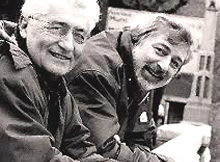 Francesco Guccini con Loriano Macchiavelli