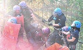 Chiomonte, poliziotti in azione