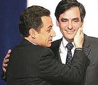 Nicolas Sarkozy con François Fillon