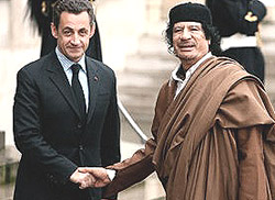 Sarkozy e Gheddafi