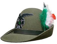 cappello alpino tricolore