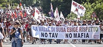 il corteo No-Tav del 3 luglio a Chiomonte