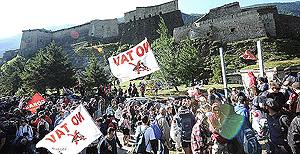 corteo No Tav al Forte di Exilles il 3 luglio