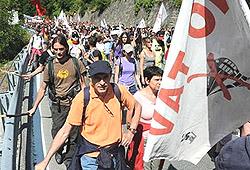 corteo nazionale No-Tav a Chiomonte il 3 luglio