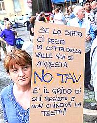 manifestante No Tav