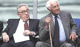 Henry Kissinger con Gianni Agnelli