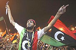 Libia, esultanza popolare