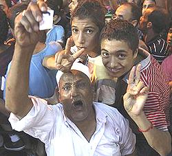 Bengasi, oppositori di Gheddafi