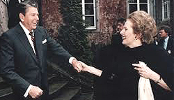 Ronald Reagan e Margaret Thatcher