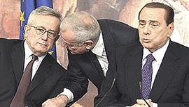 Tremonti, Letta e Berlusconi