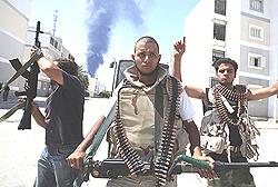 Los militantes en Trípoli