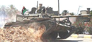 Un tank dei ribelli