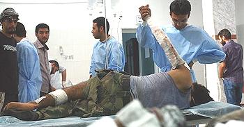 feriti in un ospedale libico