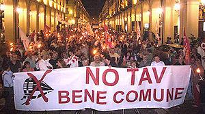 corteo No-Tav a Torino