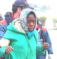 immigrata all'arrivo in Italia