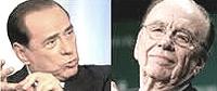 Berlusconi e Murdoch
