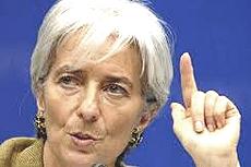 Christine Lagarde, direttrice del Fondo Monetario Internazionale