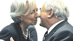 Christine Lagarde e Dominique Strauss-Kahn