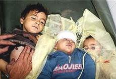 Bambini di Gaza uccisi dagli israeliani
