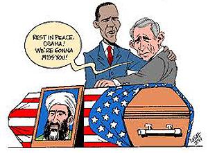 Obama, Bush e Osama