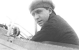 Geo Chávez a bordo del suo aereo