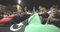 Libia, esultanza per la fine di Gheddafi