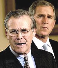 Rumsfeld e Bush
