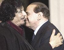 Gheddafi e Berlusconi