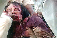 L'esibizione del cadavere di Muhammar Gheddafi
