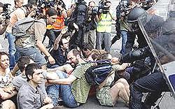 indignados a Barcellona