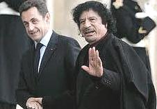 Gheddafi con Sarkozy