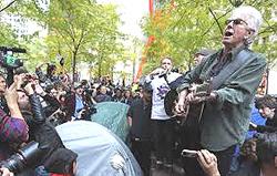 David Crosby e Graham Nash a Occupy Wall Street