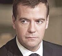 Il presidente russo Dmitrij Medvedev