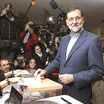 Mariano Rajoy, trionfatore delle elezioni in Spagna