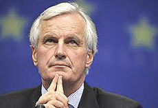 Il francese Michel Barnier, commissario europeo