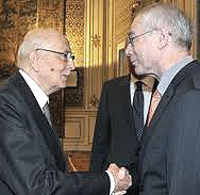 Napolitano e Van Rompuy