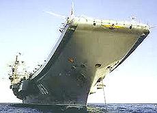 La portaerei russa Kutznesov
