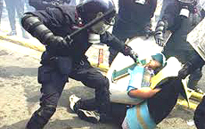 La violenza della repressione
