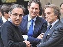 Marchionne, Elkann e Montezemolo