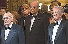 Napolitano e Monti alla Scala di Milano