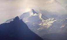 Val Susa: la Sacra di San Michele e sullo sfondo il Rocciamelone