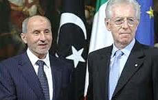 Mario Monti con Abdel Jalil
