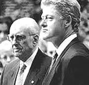 Andreas Papandreou con Bill Clinton