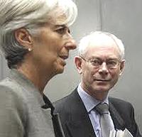 Lagarde (Fmi) e Van Rompuy (Ue)