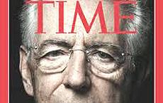 "Monti in copertina su ""Time"""
