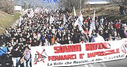 L'imponente manifestazione del 25 febbraio