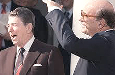 Reagan e Craxi
