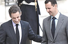 Sarkozy e Assad