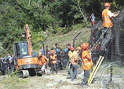 La militarizzazione dei terreni di Chiomonte