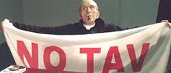 Don Andrea Gallo, sostenitore No-Tav